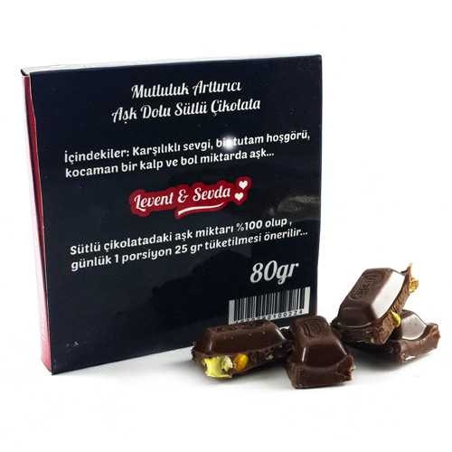Fotoğraf Baskılı Sevgililere Özel Hediyelik Çikolata