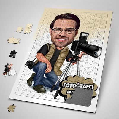 - Fotoğrafçı Karikatürlü Puzzle