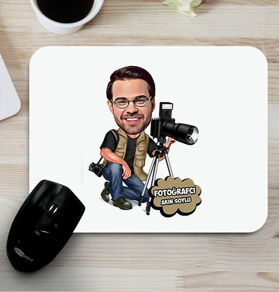 Fotoğrafçı Tasarımlı Karikatürlü Mouse Pad