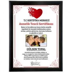 Fotoğraflı Annelik Tescil Sertifikası - Thumbnail