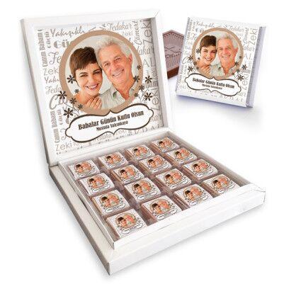 - Fotoğraflı Babalar Günü Çikolatası