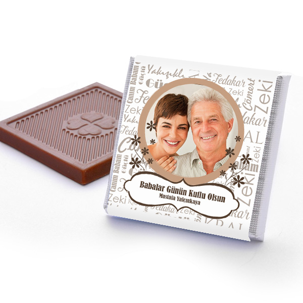 Fotoğraflı Babalar Günü Çikolatası