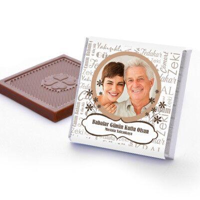 Fotoğraflı Babalar Günü Çikolatası - Thumbnail