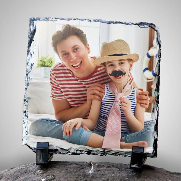 Fotoğraflı Babalara Özel Dekoratif Taş