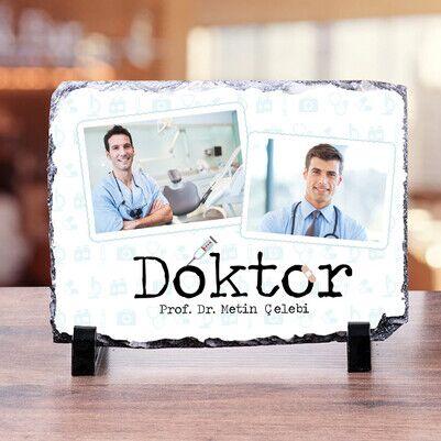 - Fotoğraflı Doktorlara Özel Masaüstü Taş Baskı