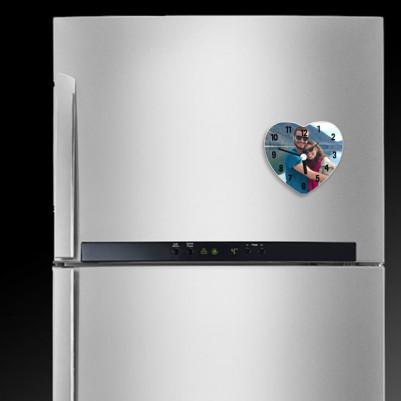 Fotoğraflı Kalp Şeklinde Buzdolabı Magneti - Thumbnail