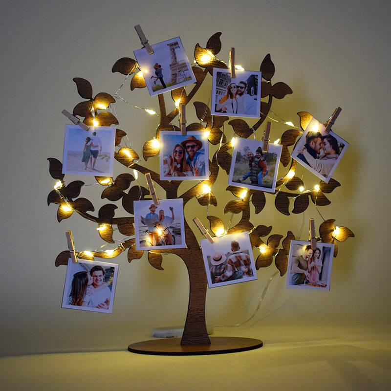 Fotoğraflı Led Işıklı Hayat Ağacı