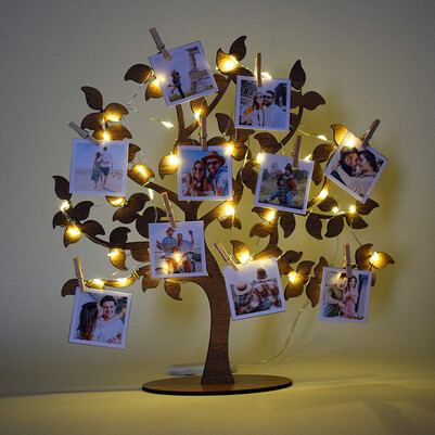 - Fotoğraflı Led Işıklı Hayat Ağacı