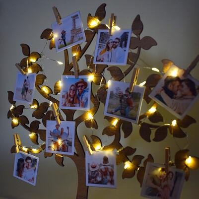 Fotoğraflı Led Işıklı Hayat Ağacı - Thumbnail
