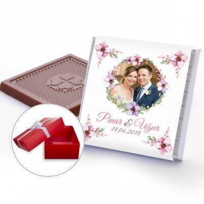 - Fotoğraflı Nişan Çikolatası