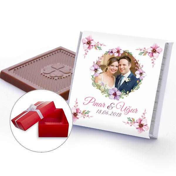 Fotoğraflı Nişan Çikolatası
