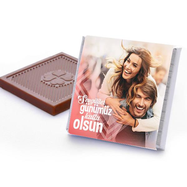 Fotoğraflı Sevgililer Günü Çikolata Kutusu