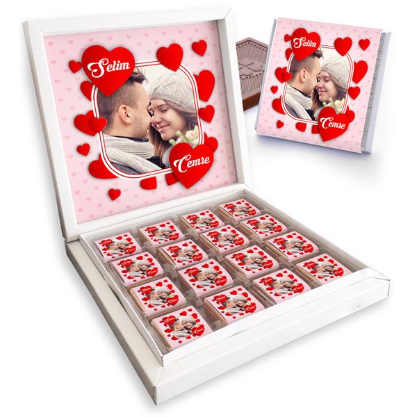 Fotoğraflı Sevgililer Günü Çikolataları