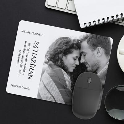 Fotoğraflı Sevgiliye Hediye Aşk Mousepad - Thumbnail