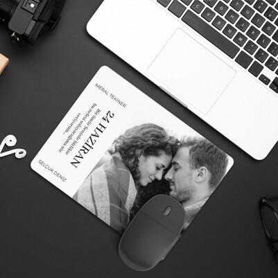 - Fotoğraflı Sevgiliye Hediye Aşk Mousepad