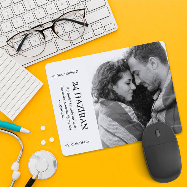 Fotoğraflı Sevgiliye Hediye Aşk Mousepad