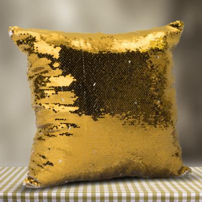 Fotoğraflı Sihirli Yastık Gold - Thumbnail