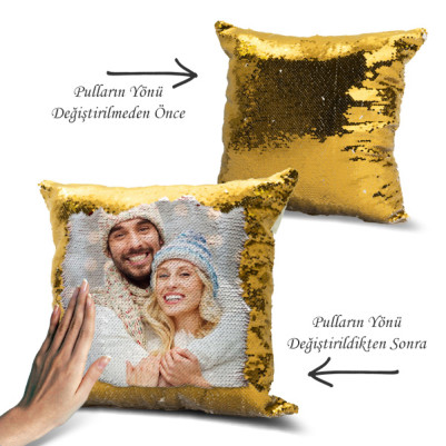 - Fotoğraflı Sihirli Yastık Gold