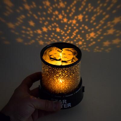 Fotoğraflı Star Master Gece Lambası - Thumbnail