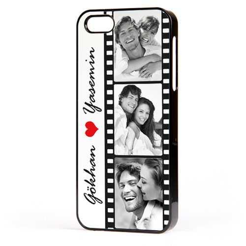 Fotoğraflı Film Şeridi iPhone Telefon Kapağı