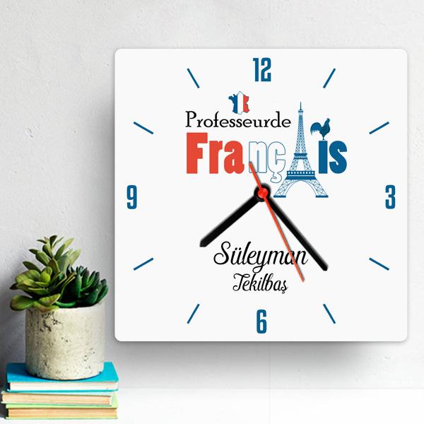 Fransızca Öğretmenine Hediye Duvar Saati