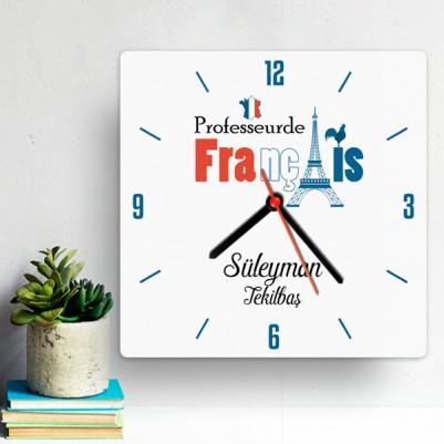 - Fransızca Öğretmenine Hediye Duvar Saati