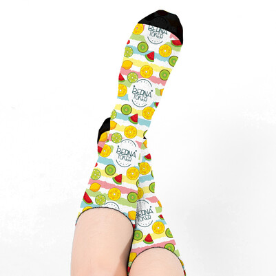 Fruits Tasarım Kadın Çorabı - Thumbnail
