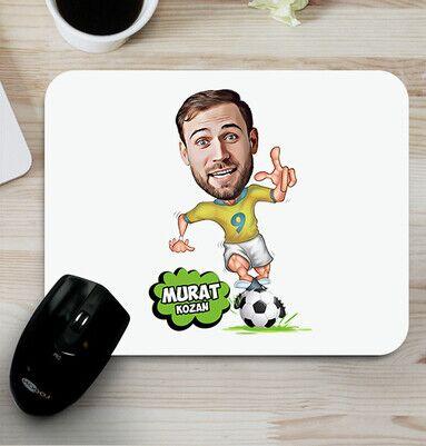 - Futbol Oyuncusu Karikatürlü Mouse Pad
