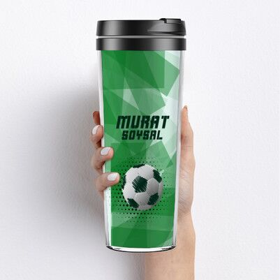 - Futbol Topu Tasarımlı Termos Bardak