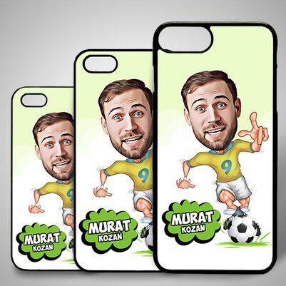 - Futbolcu Karikatürlü Iphone Kapak