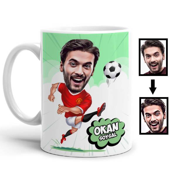 Futbolcu Karikatürlü Kupa Bardak