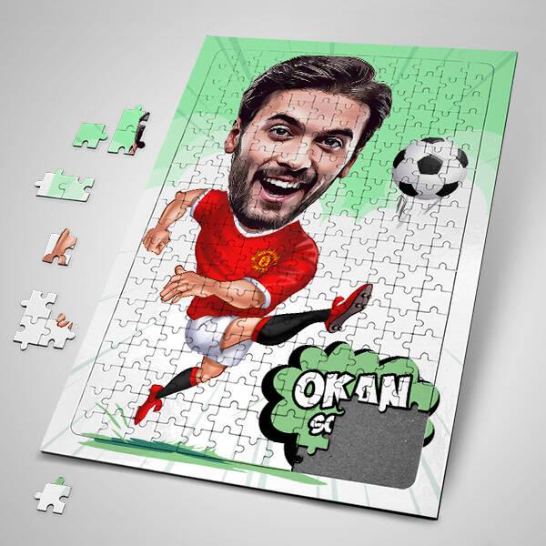 Futbolcu Karikatürlü Puzzle