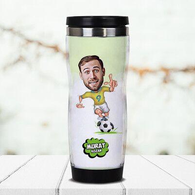 - Futbolcu Karikatürlü Termos Bardak