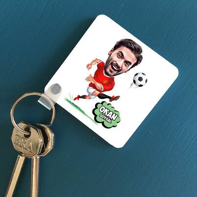 - Futbolcu Tasarımlı Karikatürlü Anahtarlık
