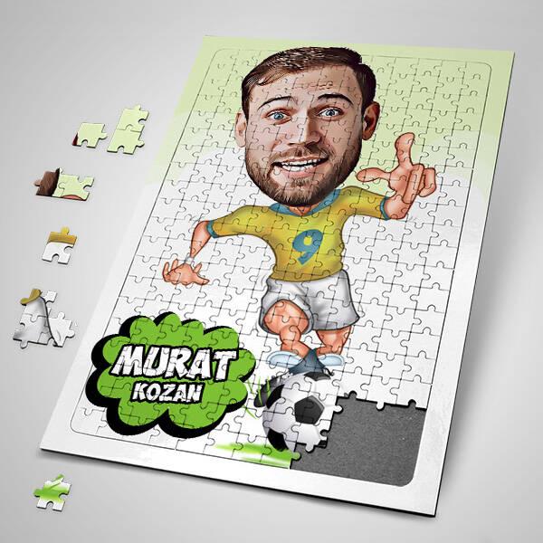 Futbolculara Özel Karikatürlü Puzzle