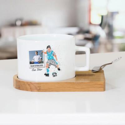 - Futbolcuya Hediye Çay Fincanı