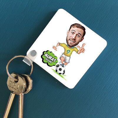 - Futbolcuya Hediye Karikatürlü Anahtarlık