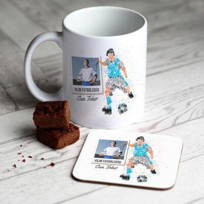 - Futbolcuya Hediye Kupa ve Bardak Altlığı