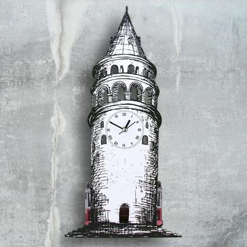 Galata Kulesi Dekoratif Duvar Saati
