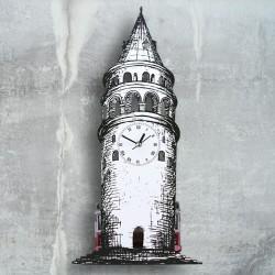 - Galata Kulesi Dekoratif Duvar Saati