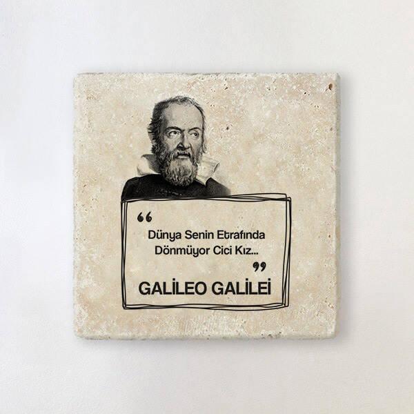 Galileo Esprili Taş Bardak Altlığı