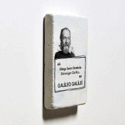 Galileo Esprili Taş Buzdolabı Magneti - Thumbnail