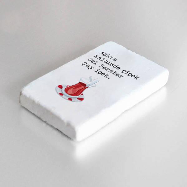 Gel Beraber Çay İçek Taş Buzdolabı Magneti
