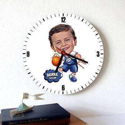 - Geleceğin Basketbolcusu Karikatürlü Duvar Saati
