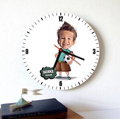 - Geleceğin Futbolcusu Karikatürlü Duvar Saati