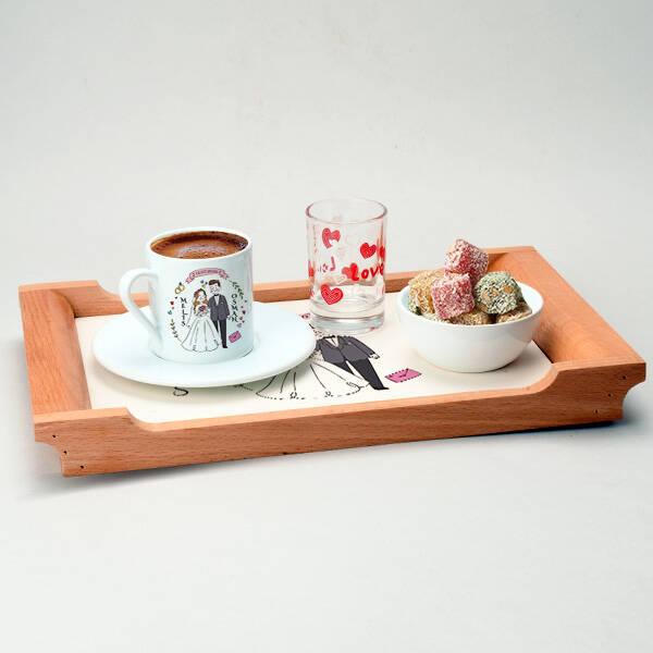 Gelin Damat Temalı Kahve Sunum Seti