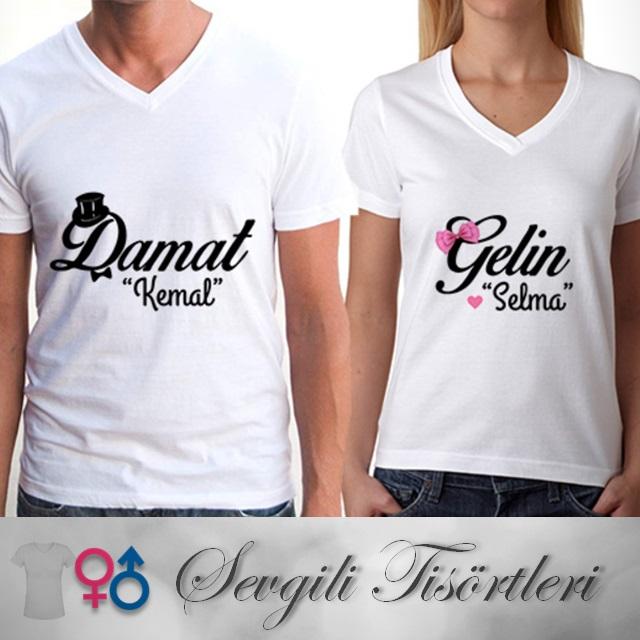 Gelin ve Damat Sevgili Tişörtü