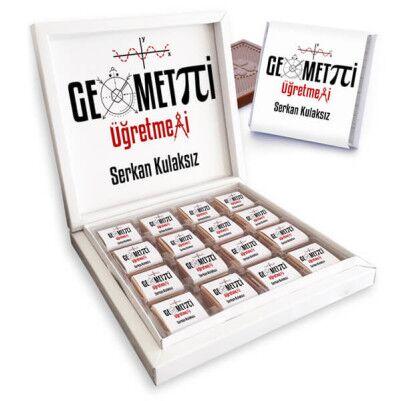 Geometri Öğretmenine Hediye Çikolata Kutusu - Thumbnail