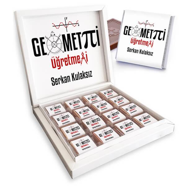 Geometri Öğretmenine Hediye Çikolata Kutusu
