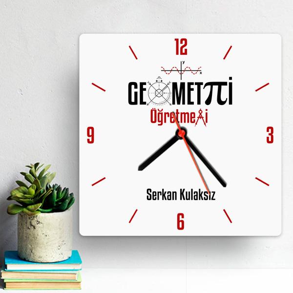 Geometri Öğretmenlerine Özel Duvar Saati